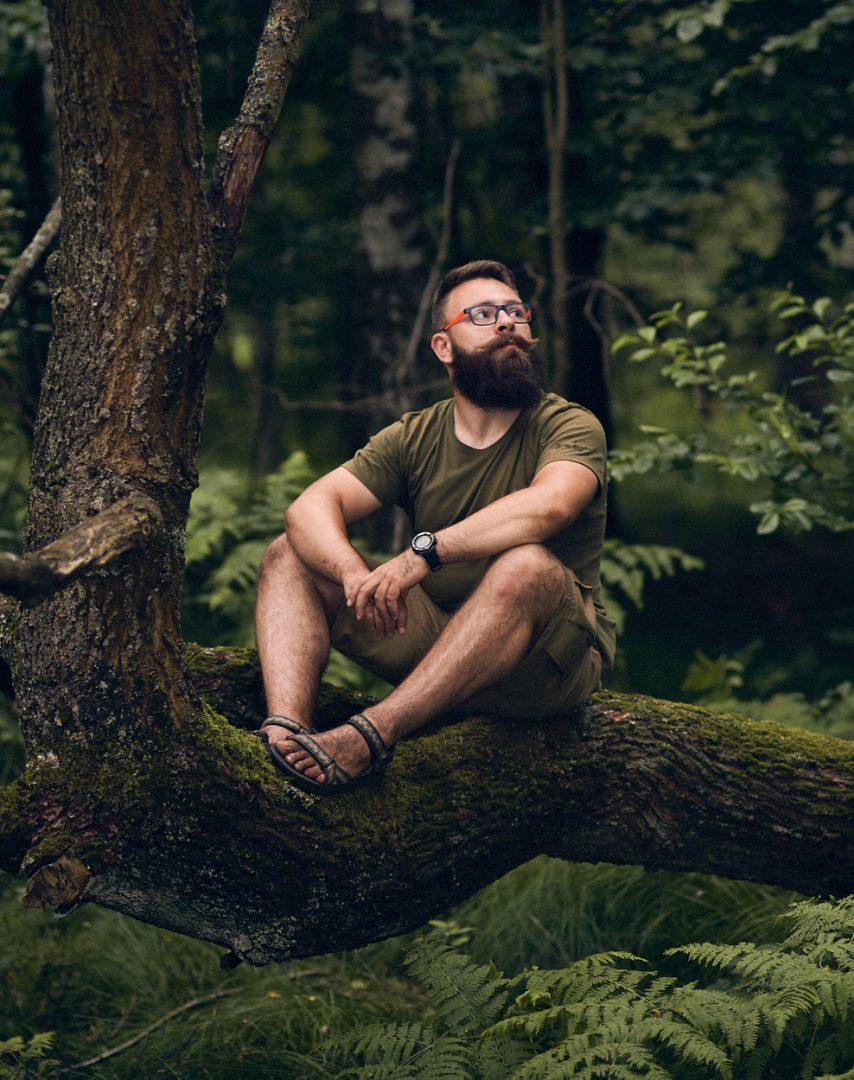 las, zdjęcie w lesie, Promnice